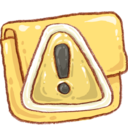 128x128px size png icon of Hp folder caution