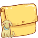 128x128px size png icon of Hp folder dog