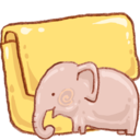 128x128px size png icon of Hp folder elephant