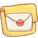 128x128px size png icon of Hp folder mail