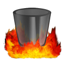 128x128px size png icon of Hell TrashEmpty