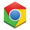 128x128px size png icon of chrome 3