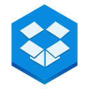 128x128px size png icon of dropbox