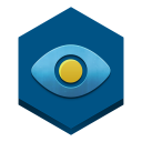 128x128px size png icon of eye in a sky
