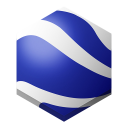 128x128px size png icon of google earth 2