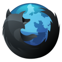 128x128px size png icon of Firefox Inverse