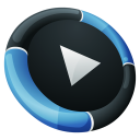 128x128px size png icon of Media Player Inverse