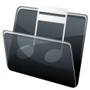 128x128px size png icon of Music Folder