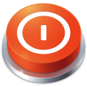128x128px size png icon of Perspective Button Shutdown