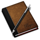 128x128px size png icon of Pages brown