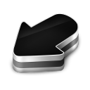 128x128px size png icon of Arrow Black