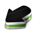 128x128px size png icon of Arrow Green
