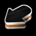 128x128px size png icon of Arrow Orange