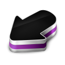 128x128px size png icon of Arrow Purple