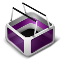 128x128px size png icon of Cart Purple