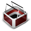 128x128px size png icon of Cart Red