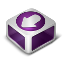 128x128px size png icon of Download Purple