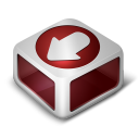 128x128px size png icon of Download Red