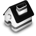 128x128px size png icon of Home Black
