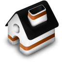 128x128px size png icon of Home Orange