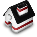 128x128px size png icon of Home Red