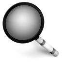 128x128px size png icon of Magnify Black