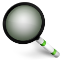 128x128px size png icon of Magnify Green