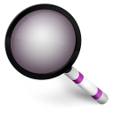 128x128px size png icon of Magnify Purple