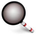 128x128px size png icon of Magnify Red