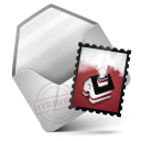 128x128px size png icon of Mail Red