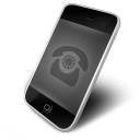 128x128px size png icon of Phone Black