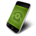 128x128px size png icon of Phone Green
