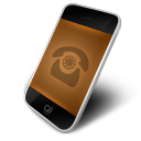 128x128px size png icon of Phone Orange