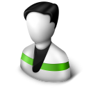 128x128px size png icon of User Green