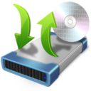 128x128px size png icon of cd burner copy