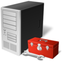 128x128px size png icon of computer preferences