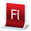 128x128px size png icon of document adobe flash