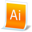 128x128px size png icon of document adobe illustrator