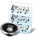 128x128px size png icon of document audio