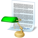 128x128px size png icon of document desk