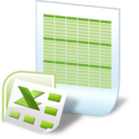 128x128px size png icon of document excel