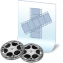 128x128px size png icon of document film