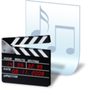 128x128px size png icon of document movie