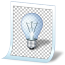 128x128px size png icon of document tip