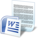 128x128px size png icon of document word
