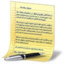 128x128px size png icon of document yellow