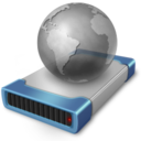 128x128px size png icon of drive network off