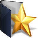 128x128px size png icon of folder blue favs