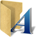 128x128px size png icon of folder fonts