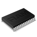 128x128px size png icon of memory chip